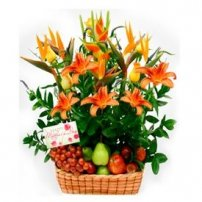 Fruit and Flowers Basket for Mom, USA