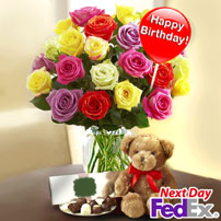 Happy Birthday Roses FREE PICK, USA